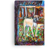 The Bruiser in a field of Flowers Canvas Print