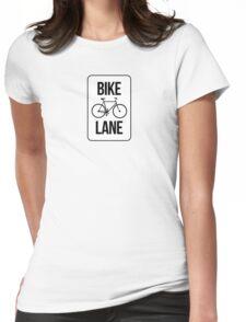 Bike Lane Womens Fitted T-Shirt