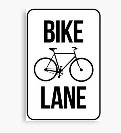 Bike Lane Canvas Print