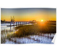 Shem Creek Sunset Poster