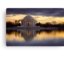 Jefferson Memorial at Sunset, Washington D.C. Canvas Print