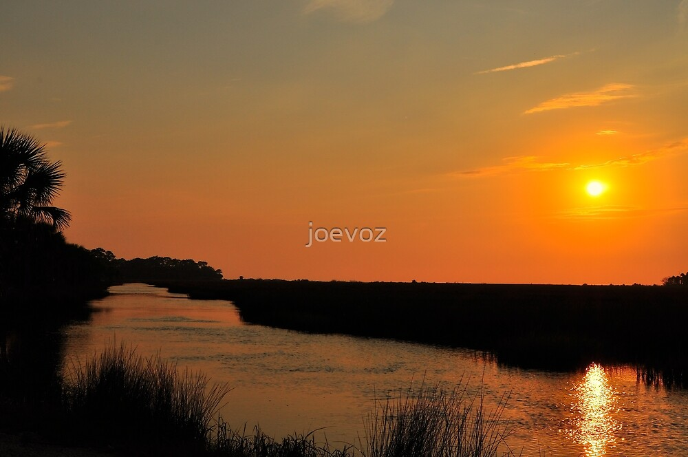 Sunset Over the Canal by joevoz