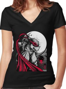 Sewer City Face Off: Part One Women's Fitted V-Neck T-Shirt