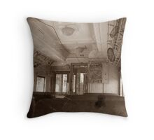 Trolley from the Good Old Days Throw Pillow