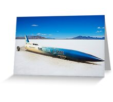 The Blue Flame at Bonneville Greeting Card