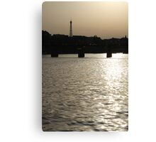 Paris - Seine reflections August 2011 Canvas Print