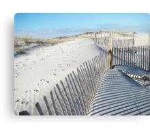 Fences Shadows and Sand Dunes Canvas Print