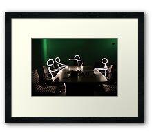 Stick Man - Directors Meeting Framed Print