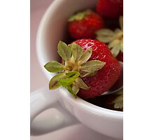Macro and vibrant colored strawberry Photographic Print