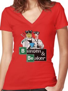 Bunsen & Beaker Women's Fitted V-Neck T-Shirt