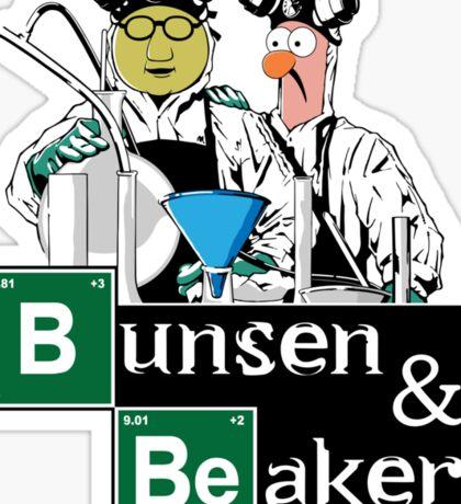 Bunsen & Beaker Sticker