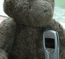 Gruff waits for a phone call by cuilcreations
