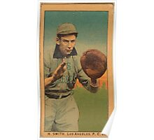 Benjamin K Edwards Collection H Smith Los Angeles Team baseball card portrait Poster