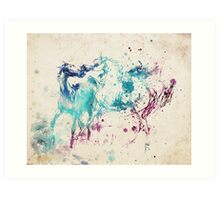 Watercolor Horses Art Print