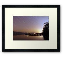 Stick Man - Lakeside 2 Framed Print