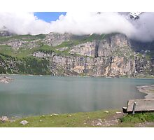 Bench at Oeschinensee Photographic Print