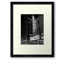 Radio City Music Hall Framed Print