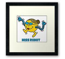 Miss Robot Framed Print