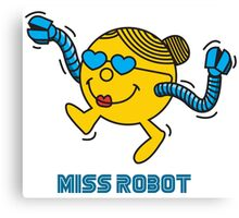 Miss Robot Canvas Print