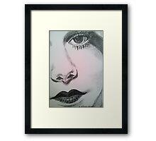 Harlean, Black and White Framed Print