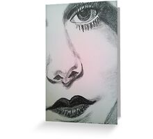 Harlean, Black and White Greeting Card