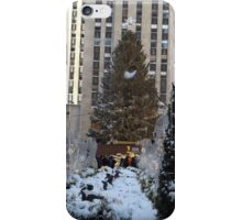Rockefeller Center Christmas Tree, Decorations, After A Snowfall, New York City iPhone Case/Skin