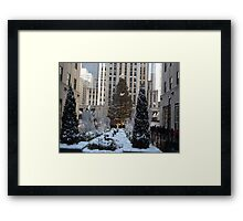 Rockefeller Center Christmas Tree, Decorations, After A Snowfall, New York City Framed Print