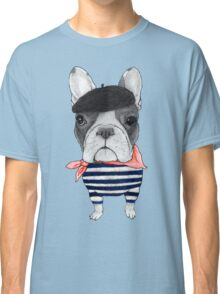 Frenchie With Arc de Triomphe Classic T-Shirt
