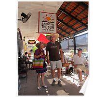 """Old Don Juan"" and his Partner, Puerto Vallarta, Mexico Poster"