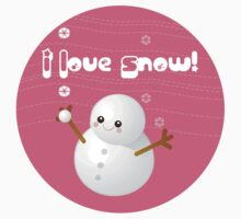 I Love Snow T-Shirt