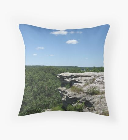 Castle Rock on the Rock Throw Pillow