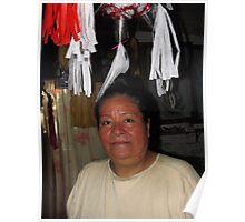 Mexican woman I - Mujer Mexicana, Puerto Vallarta, Mexico Poster