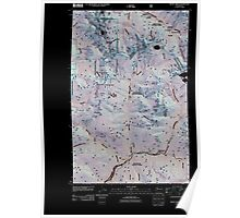 USGS Topo Map Washington State WA Monte Cristo 20110428 TM Inverted Poster