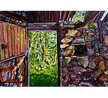 """Ruined Barn Interior, Braid Valley, County Antrim""  Photographic Print"
