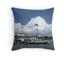 Pirate Ship at Anchor Throw Pillow