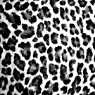 Black & White Leopard Print by brattigrl