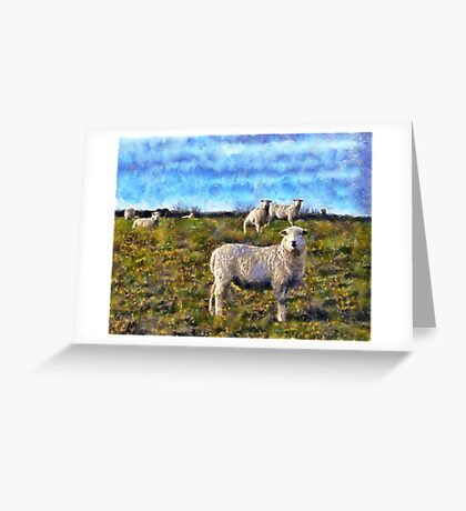 Dartmoor Sheep, Devon UK Greeting Card