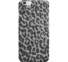 Gray Leopard Print iPhone Case/Skin