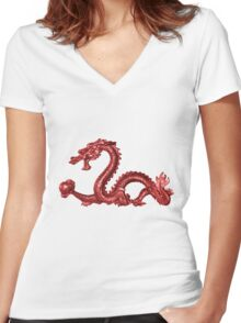 Dragon 2012 Women's Fitted V-Neck T-Shirt