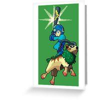 Go-Goat and Mega Man Greeting Card