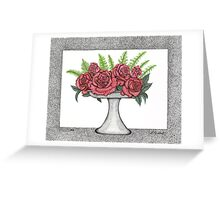 Dots of Roses Greeting Card