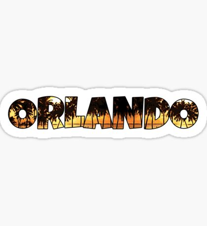 Orlando palm trees word art Sticker