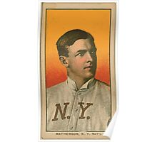 Benjamin K Edwards Collection Christy Mathewson New York Giants baseball card portrait 003 Poster