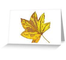 Vine Maple Leaf Greeting Card