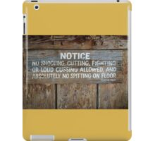 The Law West of the Pecos River iPad Case/Skin