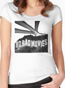 No Bad Movies Women's Fitted Scoop T-Shirt