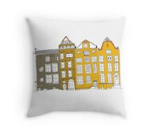 Spring Buildings Throw Pillow