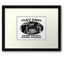 Play Faro Framed Print