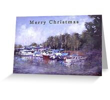 Moored Christmas Greeting Card