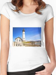 Pigeon Point Lighthouse Women's Fitted Scoop T-Shirt